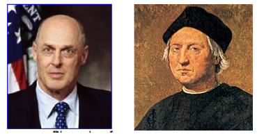 Secretary Paulson and Christopher Columbus